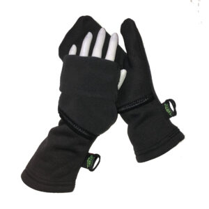 Turtle Flip Convertible Running Mittens Winter Trail Charcoal