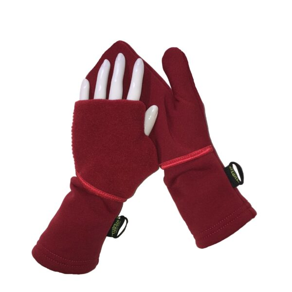 Turtle Gloves Turtle-Flip Mittens WINTER SOFT Red