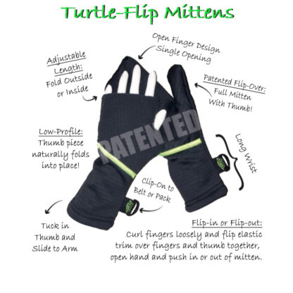 Turtle Gloves Turtle Flip Mittens Anatomy of a Turtle