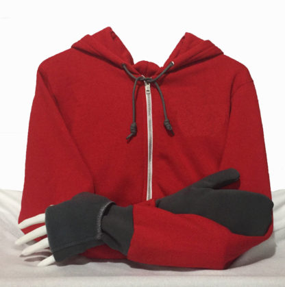 Mitten Hoodie Turtle Gloves red gray