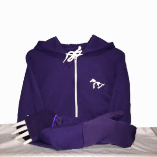 Turtle Gloves Mitten Hoodie purple