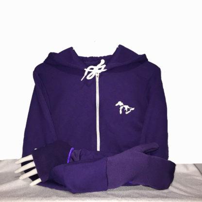 Turtle Gloves Mitten Hoodie purple
