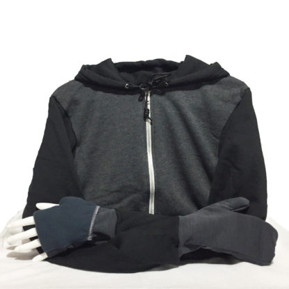 Turtle Gloves Mitten Hoodie 2-color Black Gray