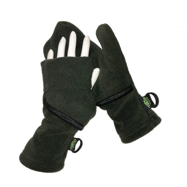 Turtle Gloves Turtle-Flip Mittens Weather Protect Heavyweight Deep Woods Green