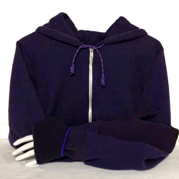 Mitten Hoodie Turtle Gloves purple