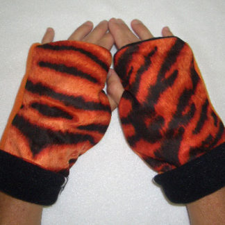 Fingerless Gloves REVERSIBLE Turtle Gloves Tigers Zebra