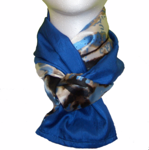 Reversible Scarf Royal Butterfly double wrap