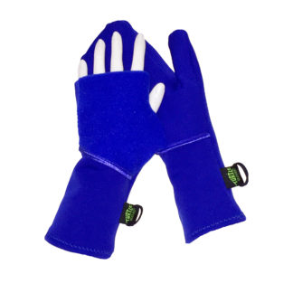 Turtle Gloves Turtle-Flip Running Mittens Midweight Winter Soft Royal