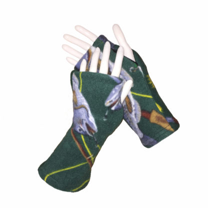 Turtle Gloves REVERSIBLE Fingerless WR 360 fish secondary shell
