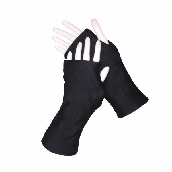 Turtle Gloves REVERSIBLE Fingerless WR 360 black primary shell