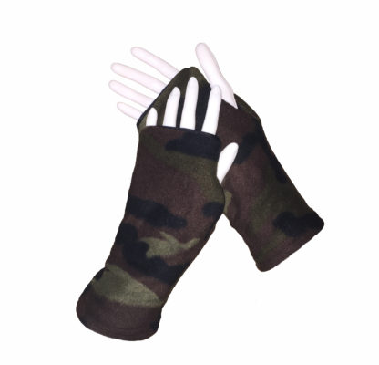 Turtle Gloves REVERSIBLE Fingerless WR 360 camo secondary shell