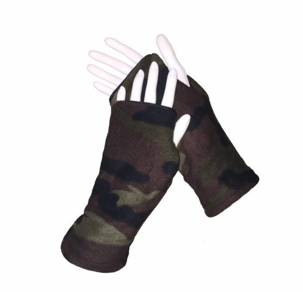 Turtle Gloves REVERSIBLE Fingerless WR 360 camo secondary shell