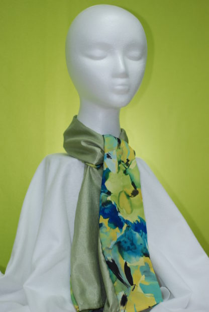 Reversible Scarf Garden Watercolors