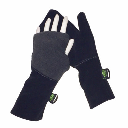 Turtle Gloves Turtle-Flip Mittens Heavy Weather Protect black charcoal