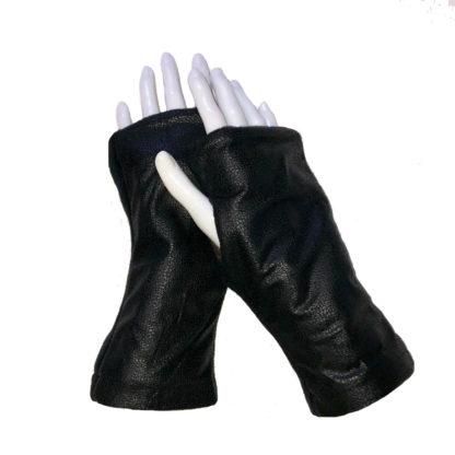 Turtle Gloves REVERSIBLE Fingerless Gloves Espresso