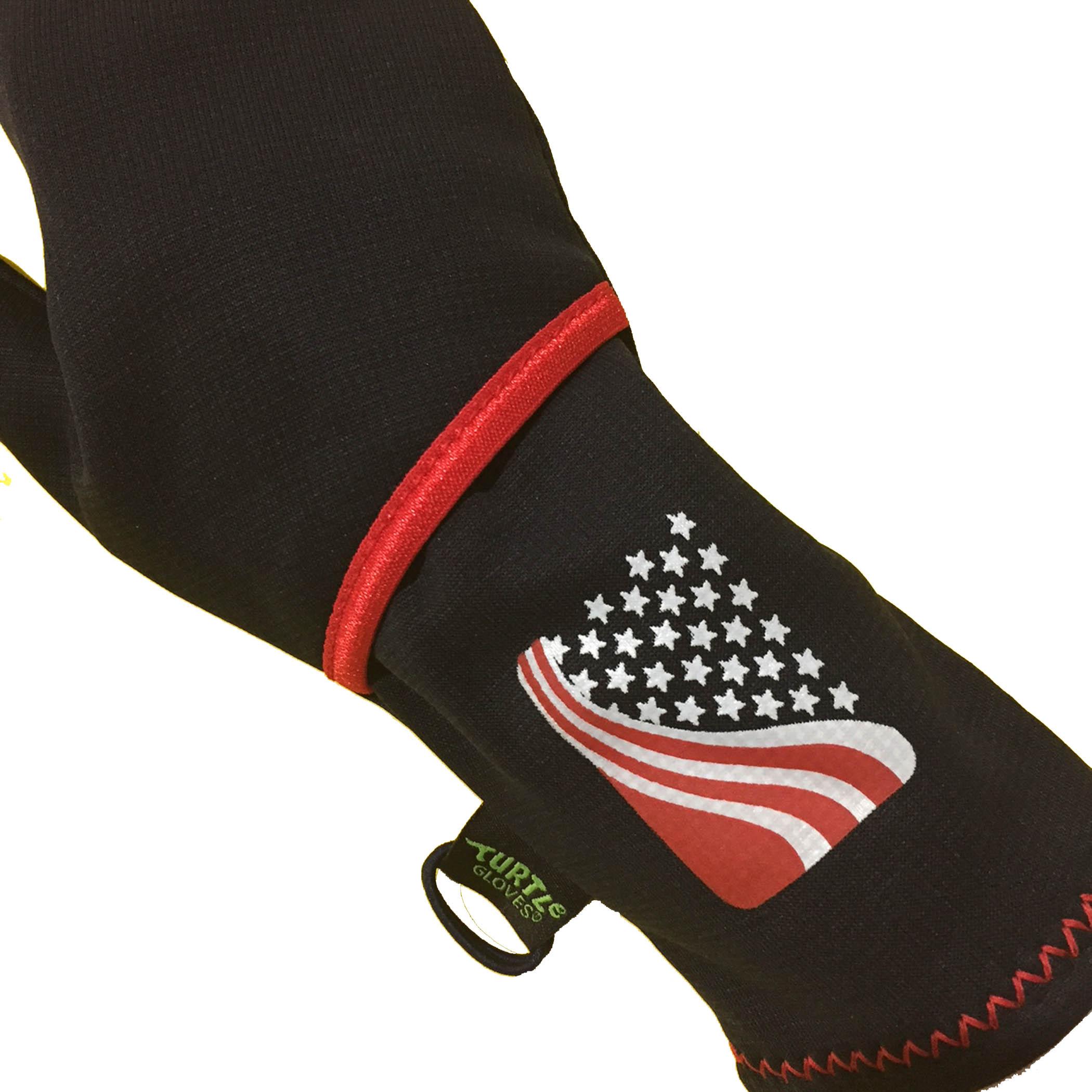 Turtle-Flip Running Mittens | Winter Trail American Flag ...
