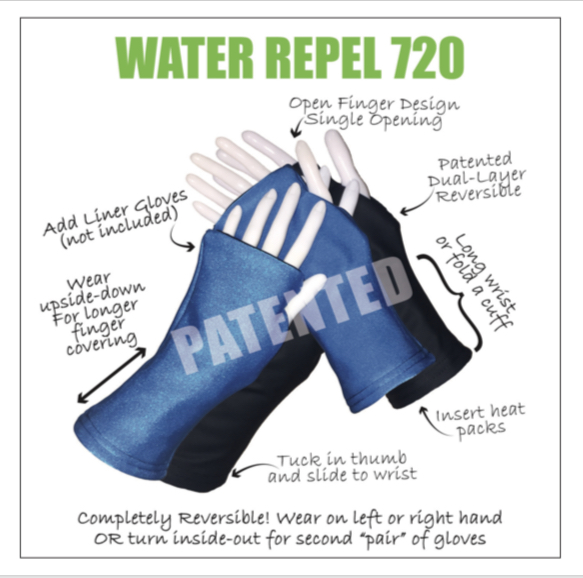 Turtle Gloves WATER REPEL 720 Visual Description
