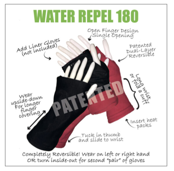 Turtle Gloves WATER REPEL 180 Visual Description