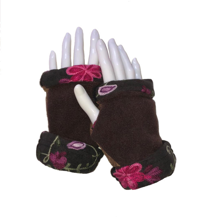 Turtle Gloves REVERSIBLE Fingerless Floral Expressions