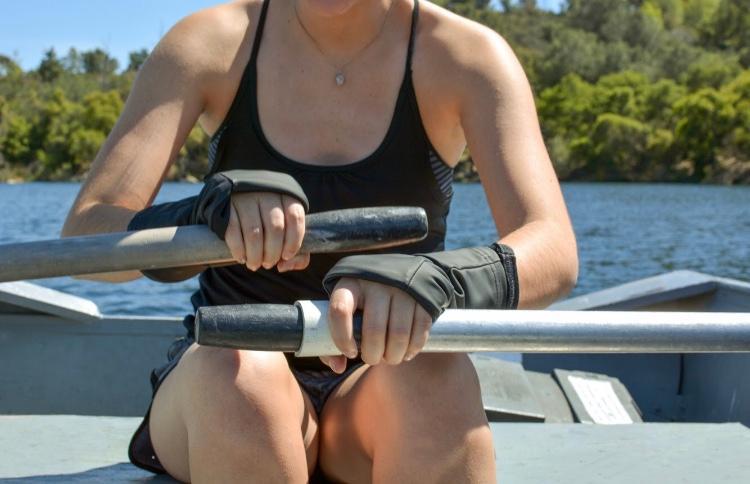 Turtle Gloves Water Repel Black Rowing