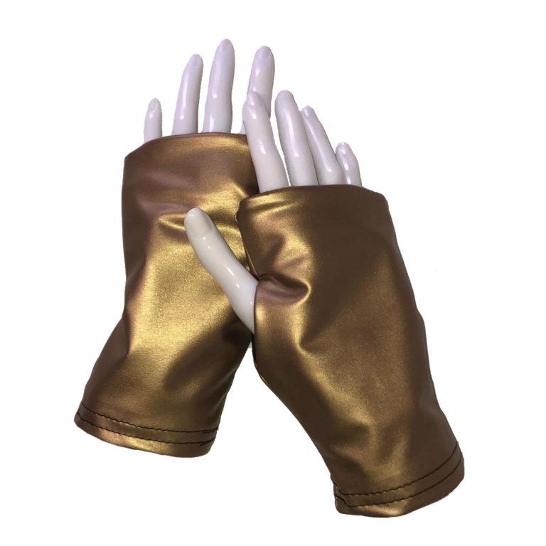 Turtle Gloves Fingerless Gold Short