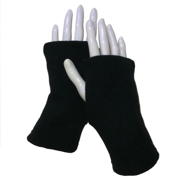 Turtle Gloves Fingerless Black Short