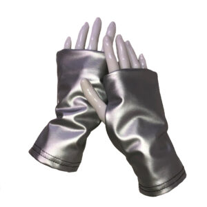 Turtle Gloves Fingerless Silver Short