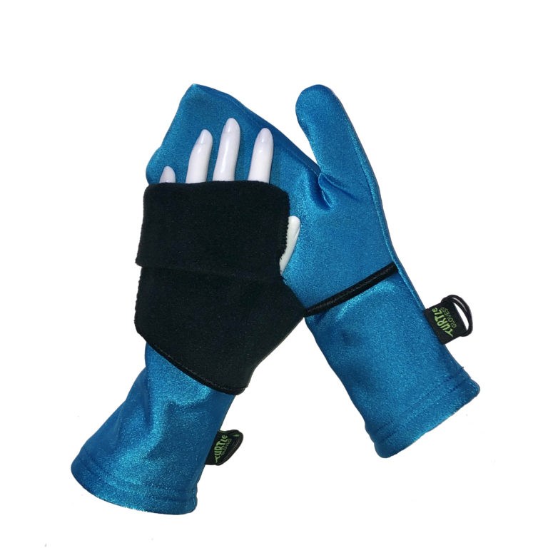Turtle Gloves Turtle-Flip Mittens Weather Protect Heavyweight Aqua