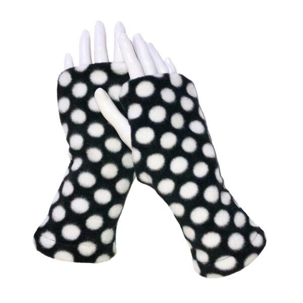 Turtle Gloves REVERSIBLE Fingerless Plaid Blue