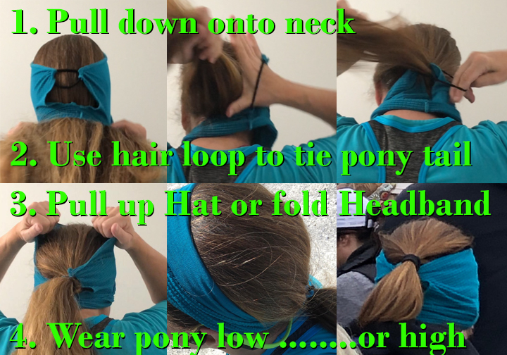 How to Use HatWrap with hair tie by Turtle Gloves