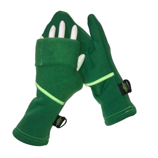 Turtle Gloves Turtle-Flip Mittens WINTER SOFT Kelly Green