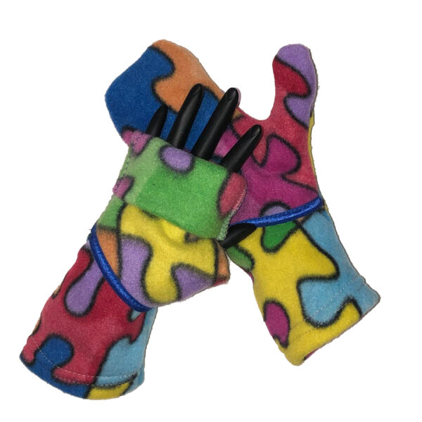 Convertible Mittens Fleece Turtle Gloves Turtle-Flip Puzzle