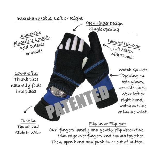 Turtle Gloves Anatomy of a Turtle Flip Mitten with Watch Gusset