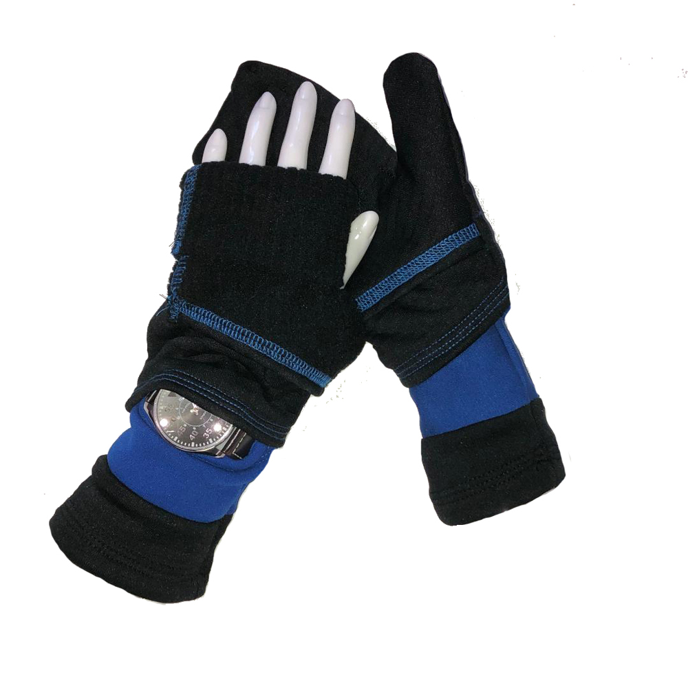 Turtle Gloves Turtle-Flip Mittens LIGHTWEIGHT with watch gusset