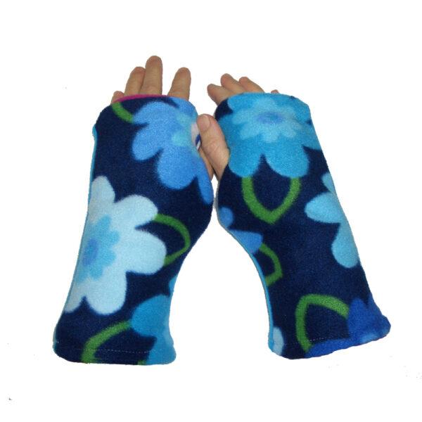 Turtle Gloves REVERSIBLE Fingerless GARDEN VARIETY